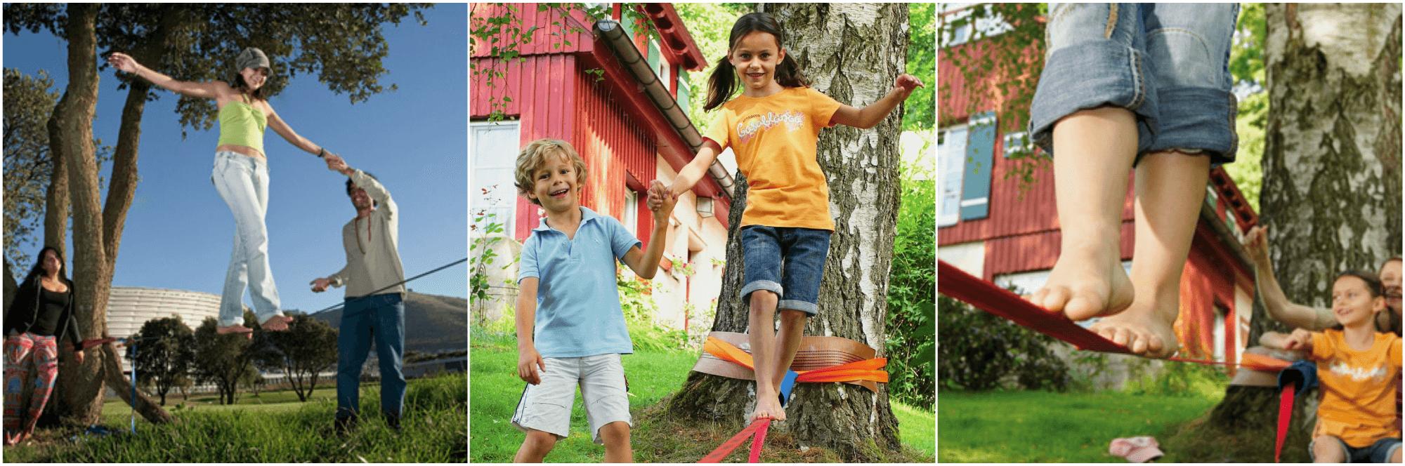 Balanceleg for børn og voksne: Slackline!