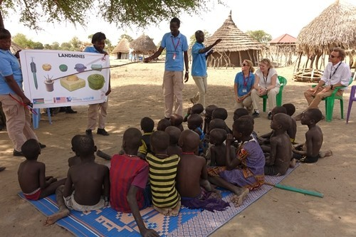 Birgitte Qvist-Sørensen's visit in South Sudan, 2015